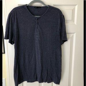 John Varvatos Designer short sleeve Henley XL